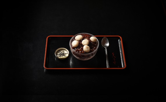蕎麦白玉ぜんざい(冷)